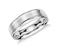 mens wedding rings brushed inlay wedding ring in platinum 6mm blue nile