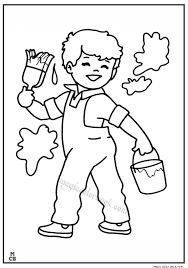 spring coloring pages kid 01