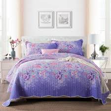 King Size Quilted Bedspreads Online Get Cheap Purple Quilted Bedspread Aliexpress Com