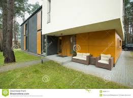 modern house entrance modern house entrance stock image image of luxury garden 49901777