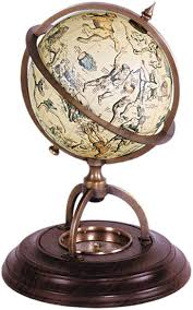 Small Desk Globe Celestial Globe With Compass Stand