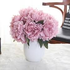 artificial flowers for home decoration artificial flowers light purple xm1 5 heads peony lilac wedding