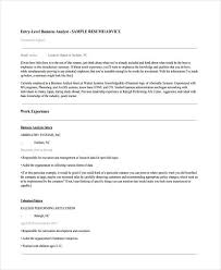 Resume Samples For Business Analyst Entry Level by 24 Best It Resume Templates Free U0026 Premium Templates