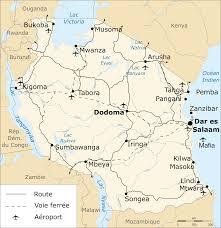 Tanzania Map File Tanzania Transport Map Fr Svg Wikimedia Commons