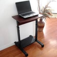 Small Laptop And Printer Desk S2015 20 Narrow Laptop Desk Height Adjustable Sit And Stand