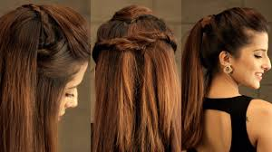 3 easy everyday pouf hairstyle for college work no