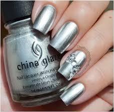 china glaze millennium konad m59 silver rhinestones nailed