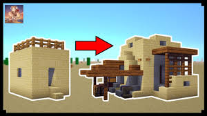 Small House Minecraft How To Transform A Minecraft Desert Village Small House Youtube