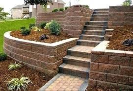 Backyard Steps Ideas Retaining Wall Garden Designs Backyard Retaining Wall Garden