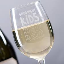 wine glass good night kids
