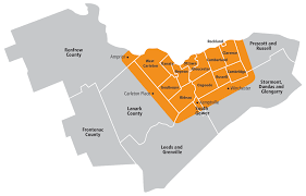 Map Of Ottawa Reliance Holmes Heating Service Areas