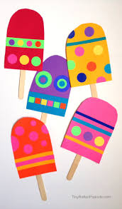 giant paper popsicle craft art for kids and robots