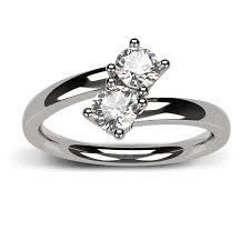 two diamond ring 14k white gold two diamond ring two rings diamond