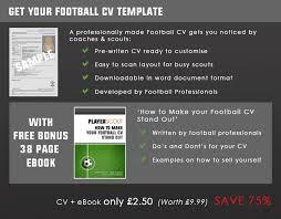 16 sample of a footballers cv dtn info