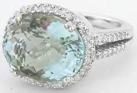 green amethyst engagement ring large oval green amethyst diamond halo engagement ring in 14k