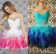 gradient colored pink homecoming dresses puffy tulle sweetheart