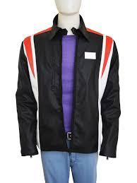 motocross leather jacket eddie the eagle bronson peary black jacket instylejackets
