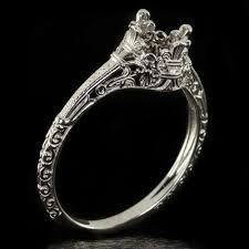 nouveau engagement rings platinum vintage antique solitaire by ivyandrosevintage only