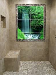 Waterfall Glass Tile Photo Tile Murals Beaumont Leaded Glass