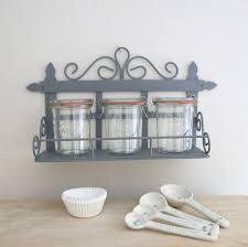 grey mini larder shelf and glass jar set by red lilly