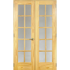 Reliabilt French Patio Doors by Shop Reliabilt Clear Glass Pine French Interior Door Common 24