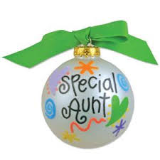 Personalized Ornaments Wedding Personalized Special Aunt Ornament With Name 21 20 Painted