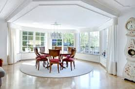 Cozy Dining Room by Rug Under Round Dining Table Rug Size For Round Dining Table