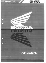 honda xr650r service manual 2000 2007 by xr650r issuu
