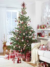 Simple White Christmas Decorations by Deck The Halls Scandi Style Red Color Christmas Tree And Decorating