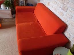 troc canapé troc echange joli canapé 2 3 places orange trocvestiaire