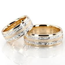 exclusive floral design wedding band set jewelry