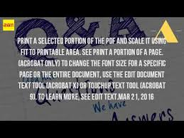 printable area change how can i increase font size in pdf file youtube