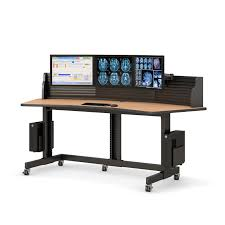 Computer Wall Desk Computer Desk With Slat Wall Monitor Mounts Afcindustries