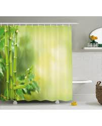 Spa Shower Curtain Shower Curtain Asian Bamboos Green Trees Print For Bathroom