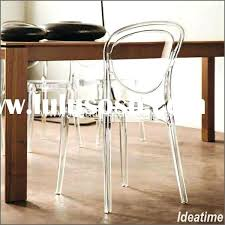 Clear Acrylic Dining Chair Marvellous Clear Plastic Dining Room Chair Covers 24 On Dining