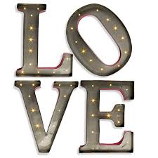 Letter Wall Decor Lone Elm Studios Lighted Love Letters 92255