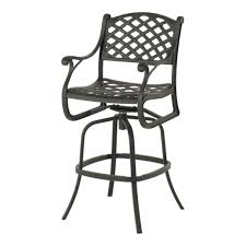 Bar Height Swivel Patio Chairs Hanamint Newport Swivel Bar Stool Patiosusa