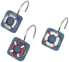 Nautical Anchor Shower Curtain Life Preserver Nautical Shower Curtain Hooks Whyrll Com