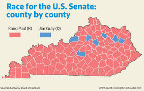 Map Of Election Results by Election 2016 Rand Paul Defeats Jim Gray For Us Senate
