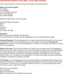 cover letter design application field service engineer cover