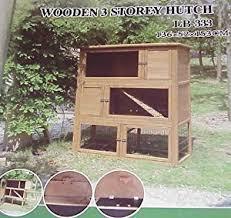 3 Storey Rabbit Hutch Triple Storey Rabbit Hutch U0026 Run Amazon Co Uk Garden U0026 Outdoors