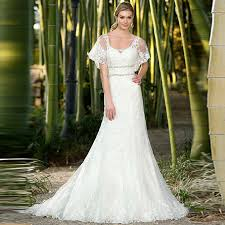 wedding dress garden party vintage lace applique wedding bridal gowns keyhole back