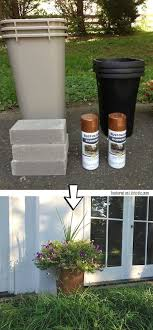 diy planters 29 easy spray paint ideas that will save you a ton of money large