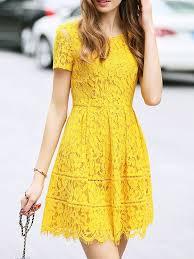 yellow dress amazing yellow lace dress design ladystyle