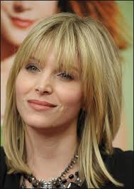 medium to short hairstyle with bangs women medium haircut