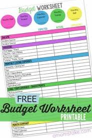 family budget worksheet budget worksheets family budget and budget
