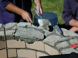 handmade fire pit how to set capstones for a fire pit how tos diy
