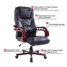 Comfortable Computer Chair by Homcom Deluxe High Back Executive Office Chair Seat Swivel