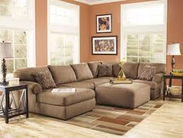 Finn Large Modern Mocha Microfiber Living Room Sofa Couch Chaise - Microfiber living room sets
