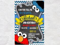 cookie monster invitation print littlepickleshoppie etsy